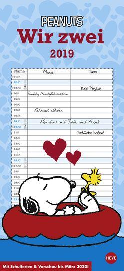Peanuts Planer Wir zwei – Kalender 2019 von Heye