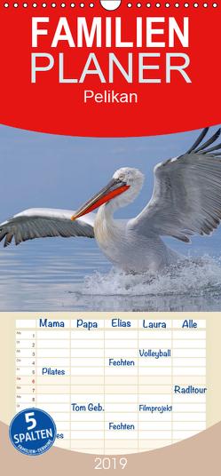 Pelikan-Kalender – Familienplaner hoch (Wandkalender 2019 , 21 cm x 45 cm, hoch) von Wolf,  Gerald