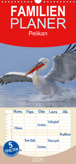 Pelikan-Kalender – Familienplaner hoch (Wandkalender 2020 , 21 cm x 45 cm, hoch) von Wolf,  Gerald