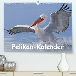 Pelikan-Kalender (Premium, hochwertiger DIN A2 Wandkalender 2021, Kunstdruck in Hochglanz) von Wolf,  Gerald