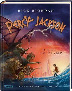 Percy Jackson – Diebe im Olymp (farbig illustrierte Schmuckausgabe) (Percy Jackson 1) von Haefs,  Gabriele, Riordan,  Rick, Rocco,  John