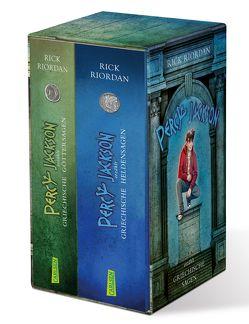 Percy Jackson erzählt: Griechische Sagen. Göttersagen und Heldensagen im Schuber von Haefs,  Gabriele, Riordan,  Rick