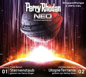 Perry Rhodan NEO MP3 Doppel-CD Folgen 01 + 02 von Borsch,  Frank, Dinger,  Hanno, Klauk,  Markus, Montillon,  Christian