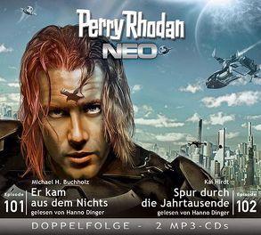 Perry Rhodan NEO MP3 Doppel-CD Folgen 101 + 102 von Buchholz,  Michael H., Dinger,  Hanno, Gottschick,  Axel, Hirdt,  Kai