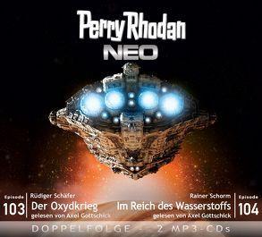 Perry Rhodan NEO MP3 Doppel-CD Folgen 103 + 104 von Gottschick,  Axel, Schäfer,  Rüdiger, Schorm,  Rainer