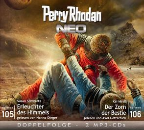 Perry Rhodan NEO MP3 Doppel-CD Folgen 105 + 106 von Dinger,  Hanno, Gottschick,  Axel, Hirdt,  Kai, Schwartz,  Susan