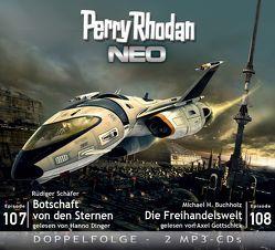 Perry Rhodan NEO MP3 Doppel-CD Folgen 107 + 108 von Buchholz,  Michael H., Dinger,  Hanno, Gottschick,  Axel, Schäfer,  Rüdiger