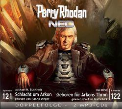 Perry Rhodan NEO MP3 Doppel-CD Folgen 121 + 122 von Buchholz,  Michael H., Dinger,  Hanno, Gottschick,  Axel, Hirdt,  Kai