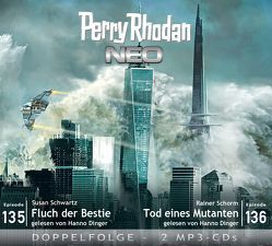 Perry Rhodan NEO MP3 Doppel-CD Folgen 135 + 136 von Dinger,  Hanno, Schorm,  Rainer, Schwartz,  Susan