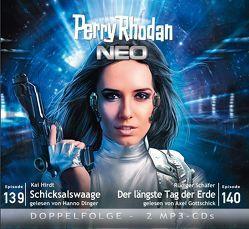 Perry Rhodan NEO MP3 Doppel-CD Folgen 139 + 140 von Dinger,  Hanno, Gottschick,  Axel, Hirdt,  Kai, Schäfer,  Rüdiger