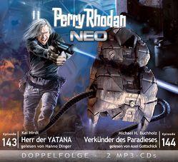 Perry Rhodan NEO MP3 Doppel-CD Folgen 143 + 144 von Buchholz,  Michael H., Dinger,  Hanno, Gottschick,  Axel, Hirdt,  Kai