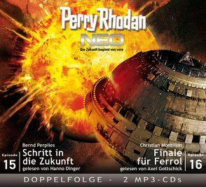 Perry Rhodan NEO MP3 Doppel-CD Folgen 15 + 16 von Dinger,  Hanno, Gottschick,  Axel, Montillon,  Christian, Perplies,  Bernd
