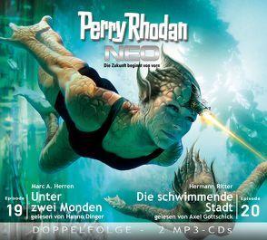 Perry Rhodan NEO MP3 Doppel-CD Folgen 19 + 20 von Dinger,  Hanno, Gottschick,  Axel, Herren,  Marc A., Ritter,  Hermann