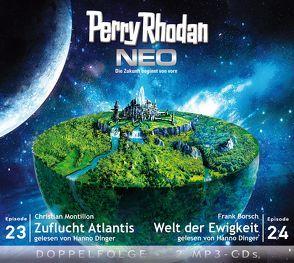 Perry Rhodan NEO MP3 Doppel-CD Folgen 23 + 24 von Borsch,  Frank, Dinger,  Hanno, Montillon,  Christian