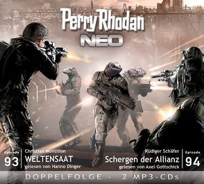 Perry Rhodan NEO MP3 Doppel-CD Folgen 93 + 94 von Christian,  Montillon, Dinger,  Hanno, Gottschick,  Axel, Rüdiger,  Schäfer