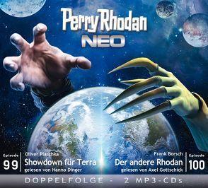 Perry Rhodan NEO MP3 Doppel-CD Folgen 99 + 100 von Borsch,  Frank, Dinger,  Hanno, Gottschick,  Axel, Plaschka,  Oliver