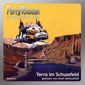 Perry Rhodan Silber Edition (MP3-CDs) 123 – Terra im Schussfeld von Darlton,  Clark, Ewers,  H.G., Francis,  H G, Gottschick,  Axel, Griese,  Peter, Voltz,  William
