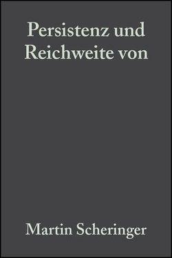 Persistenz und Reichweite von Umweltchemikalien von Scheringer,  Martin
