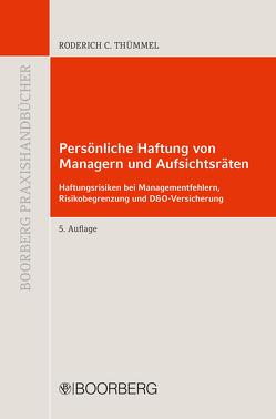 Persönliche Haftung von Managern und Aufsichtsräten von Thümmel,  Roderich C.