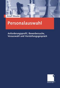 Personalauswahl von Weuster,  Arnulf