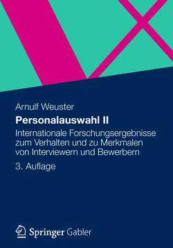 Personalauswahl II von Weuster,  Arnulf