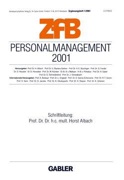 Personalmanagement 2001 von Albach,  Horst