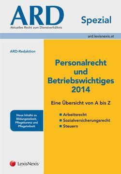 Personalrecht und Betriebswichtiges 2014 von Bleyer,  Birgit, Lindmayr,  Manfred, Sabara,  Bettina, Sadlo,  Sabine, Tuma,  Barbara
