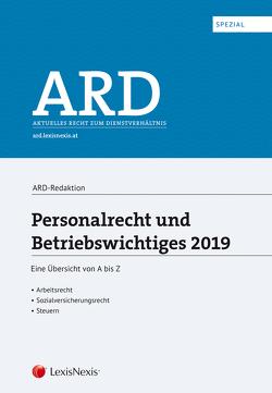 Personalrecht und Betriebswichtiges 2019 von Bleyer,  Birgit, Lindmayr,  Manfred, Sabara,  Bettina