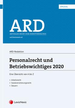 Personalrecht und Betriebswichtiges 2020 von Bleyer,  Birgit, Lindmayr,  Manfred, Sabara,  Bettina