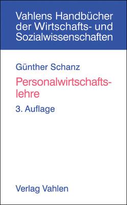 Personalwirtschaftslehre von Schanz,  Günther