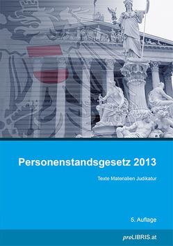 Personenstandsgesetz 2013 von proLIBRIS VerlagsgesmbH
