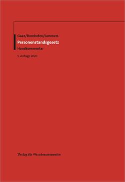 Personenstandsgesetz von Bornhofen,  Heinrich, Gaaz,  Berthold, Lammers,  Thomas