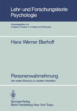 Personenwahrnehmung von Bierhoff,  Hans-Werner