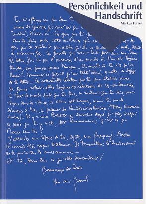 Persönlichkeit und Handschrift von Furrer,  Markus