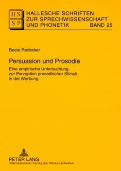 Persuasion und Prosodie von Redecker,  Beate