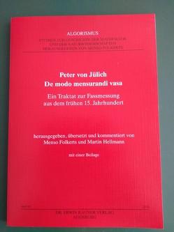 Peter von Jülich: De modo mensurandi vasa von Folkerts,  Menso, Hellmann,  Martin