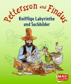 Pettersson & Findus – Knifflige Labyrinthe und Suchbilder von Becker,  Christian, Nordqvist,  Sven