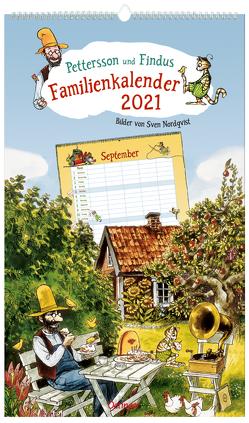 Pettersson und Findus Familienkalender 2021 von Nordqvist,  Sven