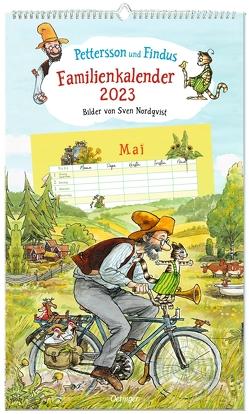 Pettersson und Findus Familienkalender 2023 von Nordqvist,  Sven