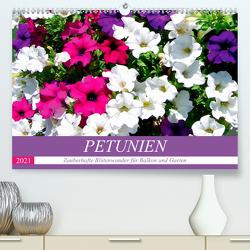 Petunien. Zauberhafte Blütenwunder für Balkon und Garten (Premium, hochwertiger DIN A2 Wandkalender 2021, Kunstdruck in Hochglanz) von Hurley,  Rose