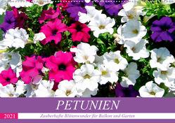 Petunien. Zauberhafte Blütenwunder für Balkon und Garten (Wandkalender 2021 DIN A2 quer) von Hurley,  Rose