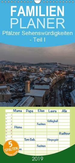 Pfälzer Sehenswürdigkeiten – Teil I – Familienplaner hoch (Wandkalender 2019 , 21 cm x 45 cm, hoch) von Hess,  Erhard