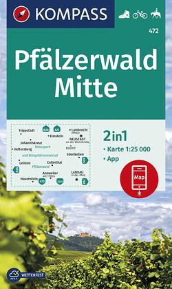 Pfälzerwald Mitte von KOMPASS-Karten GmbH