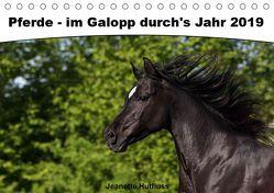 Pferde – im Galopp durch's Jahr 2019 (Tischkalender 2019 DIN A5 quer) von Hutfluss,  Jeanette