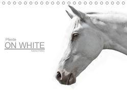 Pferde ON WHITE (Tischkalender 2019 DIN A5 quer) von Peters,  Sabine