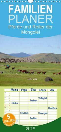 Pferde und Reiter der Mongolei – Familienplaner hoch (Wandkalender 2019 , 21 cm x 45 cm, hoch) von Sys,  Pu