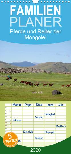 Pferde und Reiter der Mongolei – Familienplaner hoch (Wandkalender 2020 , 21 cm x 45 cm, hoch) von Sys,  Pu