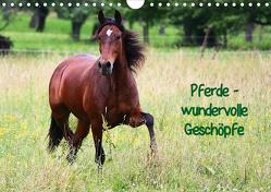 Pferde – wundervolle Geschöpfe (Wandkalender 2020 DIN A4 quer) von Blum,  Anja