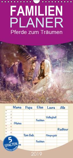 Pferde zum Träumen – Familienplaner hoch (Wandkalender 2019 , 21 cm x 45 cm, hoch) von FotoDreams.DE,  Studio