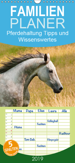 Pferdehaltung Tipps und Wissenswertes – Familienplaner hoch (Wandkalender 2019 , 21 cm x 45 cm, hoch) von Bölts,  Meike